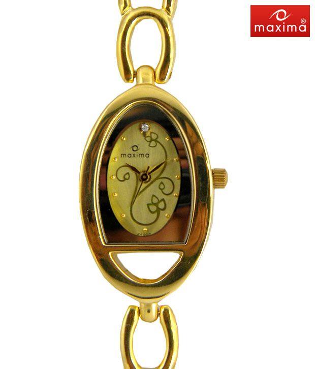 Maxima Royal Gold Bracelet Watch-PA-E-24000BMLYA