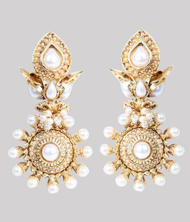agastya lotus pearl earrings buy agastya lotus pearl