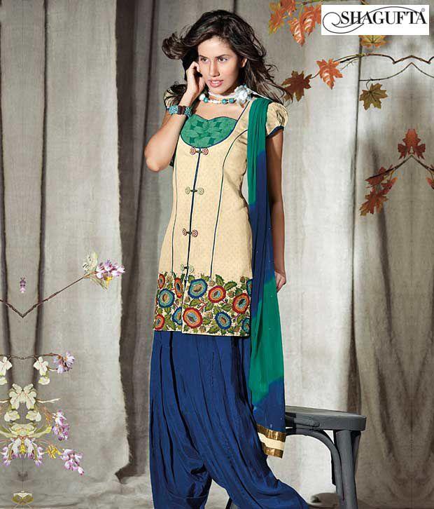 Shagufta Chanderi Banarasi Silk Suit-B-518
