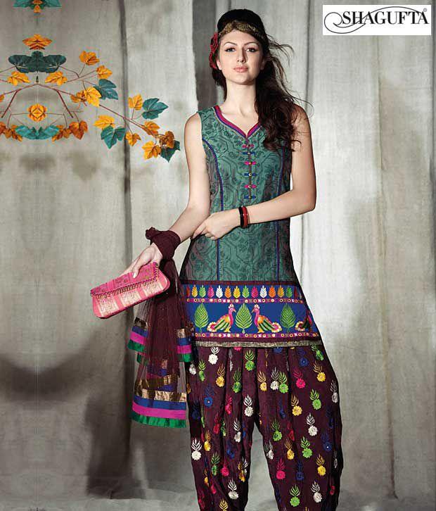 Shagufta Chanderi Banarasi Silk Suit-B-531