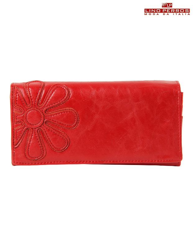 Lino Perros Red Flower Wallet
