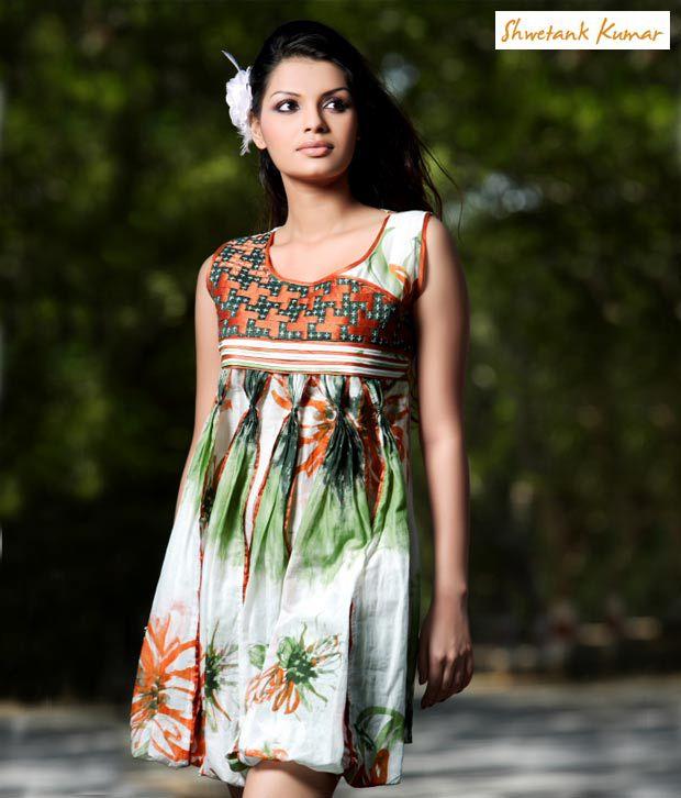 Shwetank Kumar White Dress-Sk-971-Wh