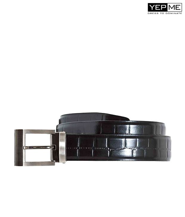 Yepme Formal Black Leather Belt