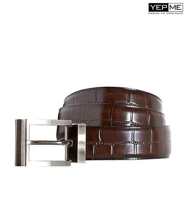 Yepme Formal Brown Leather Belt