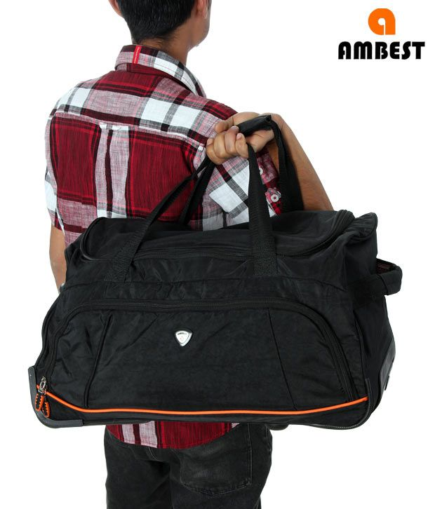 Ambest Black Trolley Gym Bag