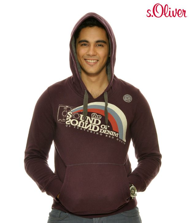 S.Oliver Purple Hooded Sweat Shirt (40.011.41.2992)