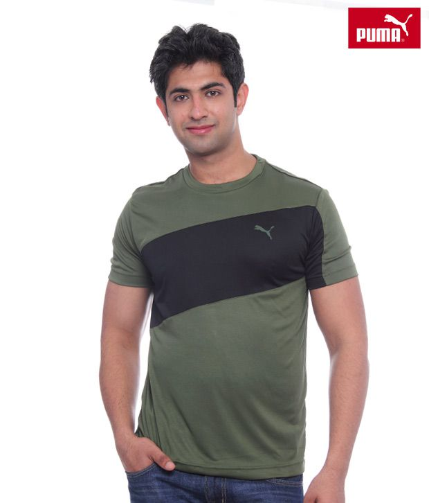 Puma Black & Green T-shirt-50928003