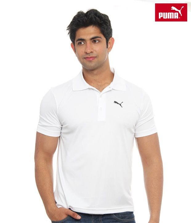 Puma White Polo T-shirt- 50928202