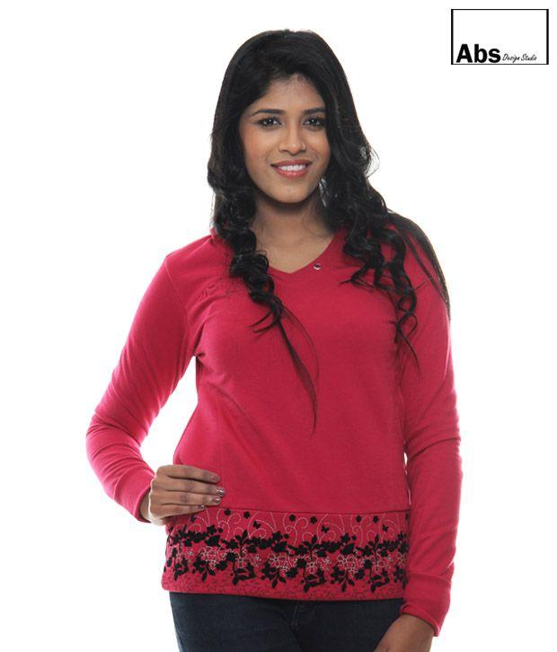 Abs Pink Hoodie Sweat Shirt-Abwg11126Pk
