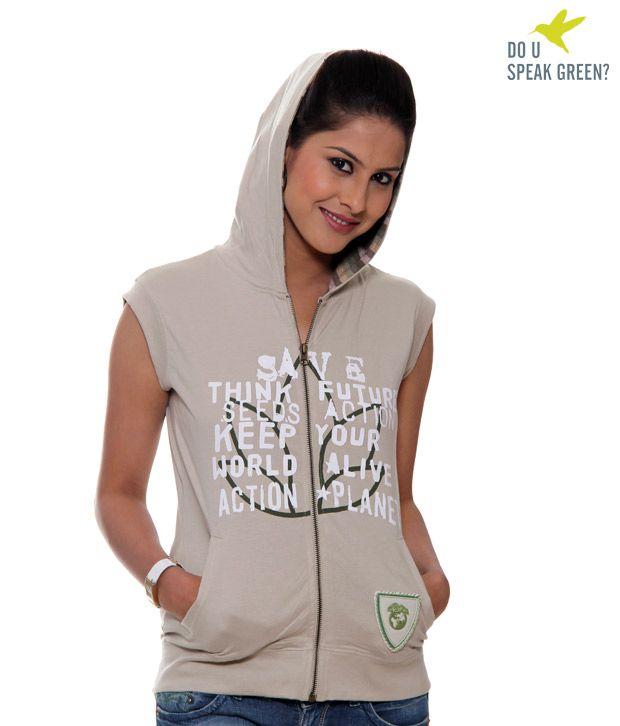 Dusg Beige Hoodie Jacket- Dusg005