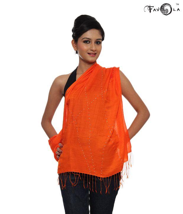 Favola Trendy Orange Stole (FST11)