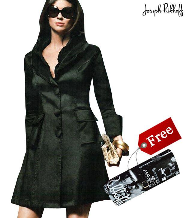 Joseph Ribkoff Classic Black Jacket- 19339E With Free Clutch