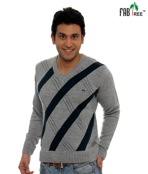 Fabtree Grey & Black Pullover-SK-511-GY