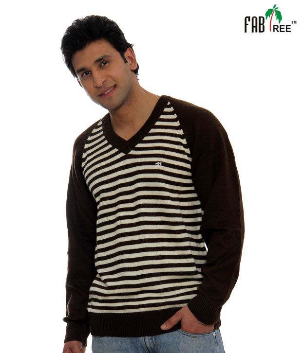 Fabtree Coffee Striped Pullover-SK-512-CF