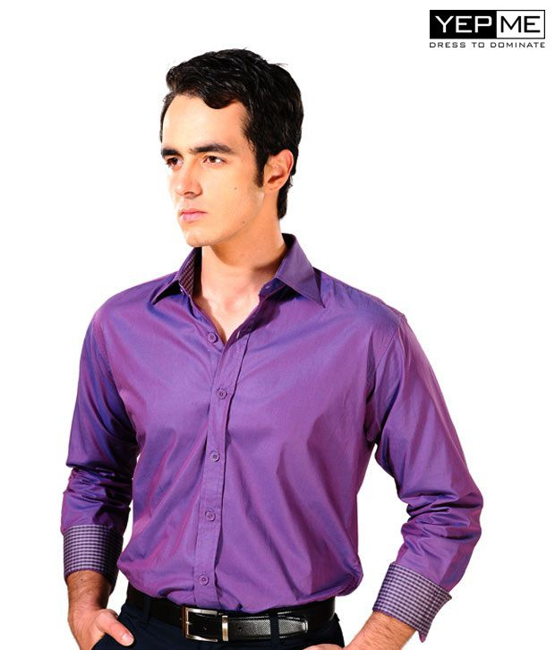 Yepme Purple Blue Party Wear Shirt YPMSHRT0040
