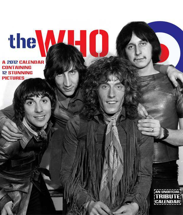 The Who Music 2012 Calendar