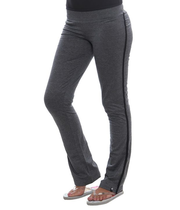 H&A Grey Cotton Track Pants - 01WML-GREY/MELANGE