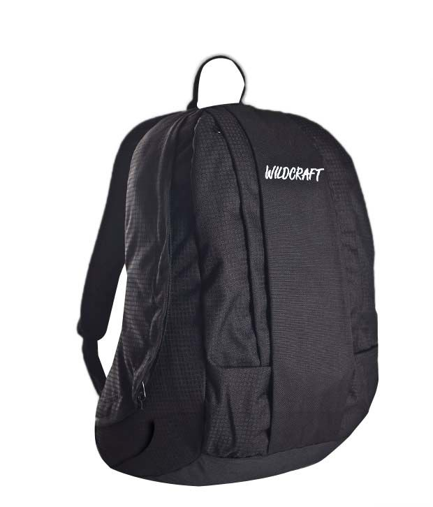 Wildcraft Contour Black Backpack