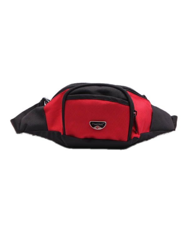 President Red Black Waist Pouch