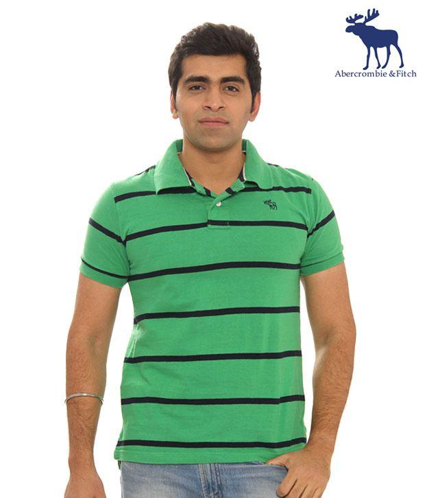 Abercrombie & Fitch Green - Black T-Shirt- 51668695-Green Black