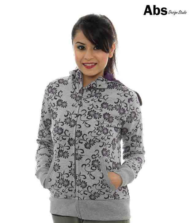 ABS Grey Hoodie Sweat Shirt-ABWG11-130-HT