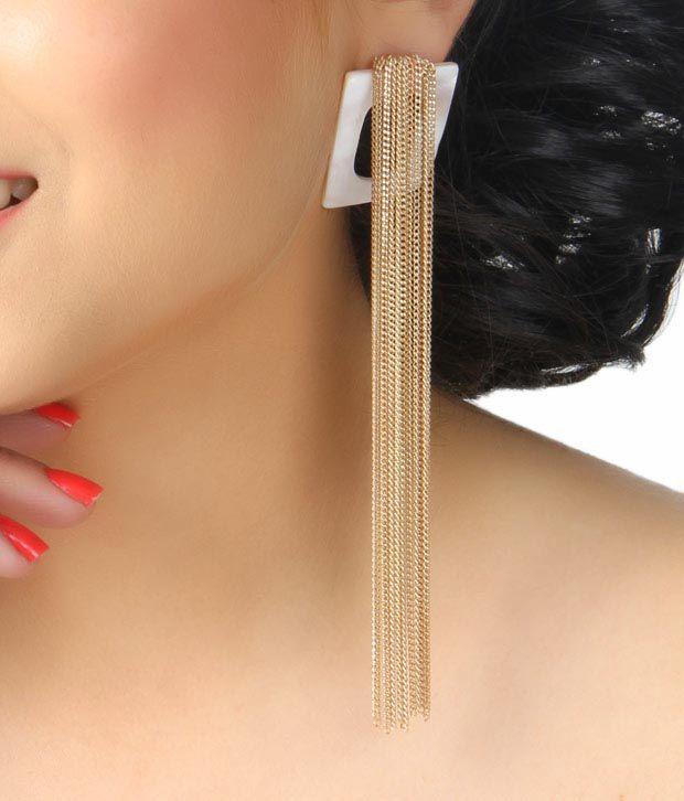 Bansri Beyonce Golden Earrings