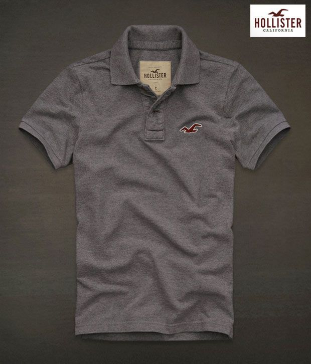 495199df Hollister Grey Polo T-Shirt-Hl05Gry - Buy Hollister Grey Polo T-Shirt-Hl05Gry  Online at Low Price - Snapdeal.com