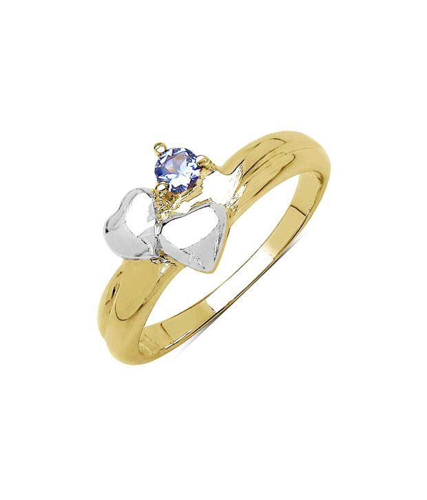 Johareez Genuine Tanzanite Heart Ring