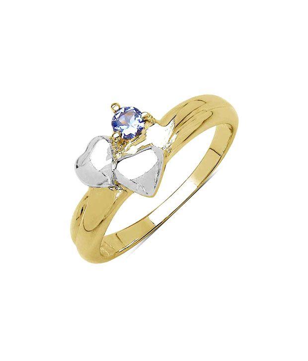 Johareez Genuine Tanzanite Heart Ring