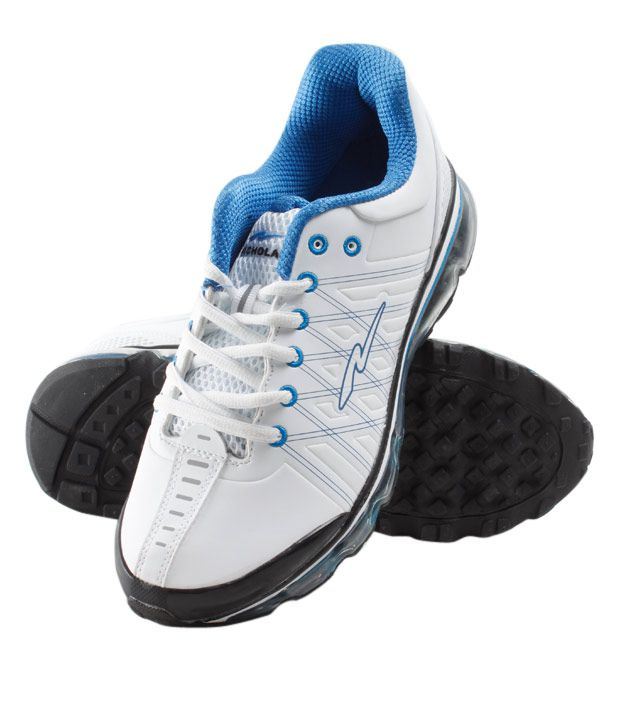 Nicholas Men's Running White & Blue Shoe