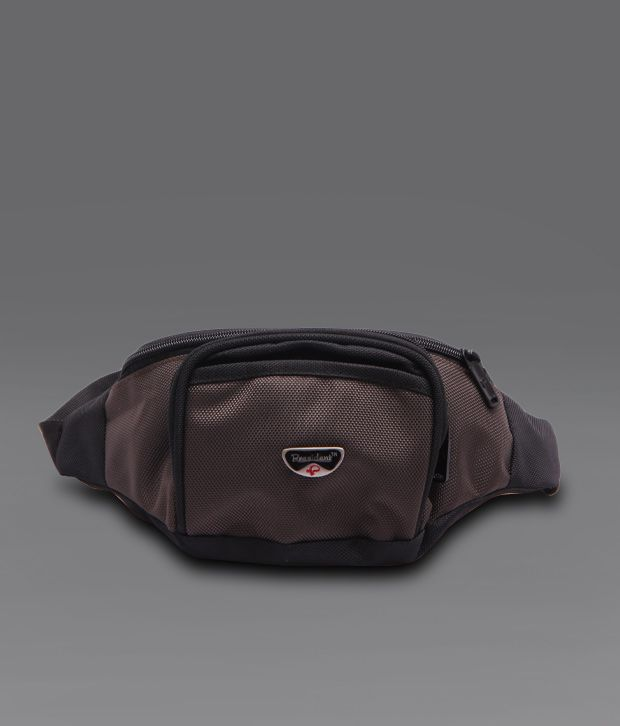 President Brown Black Waist Pouch
