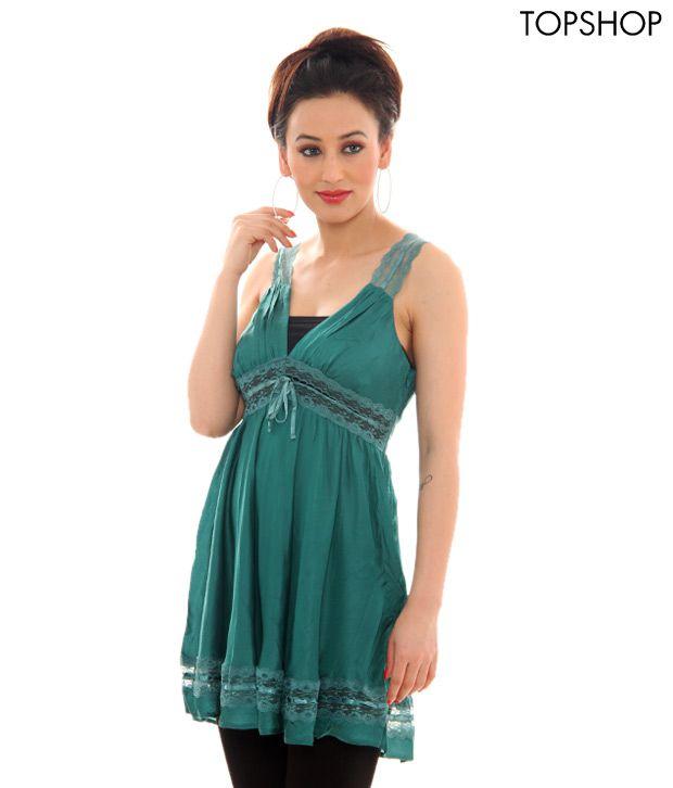 Topshop Green Dress-TS08