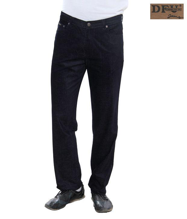 DFU Dark Blue Corduroy Trousers-CordT-25