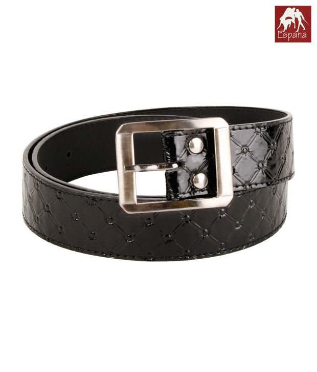 Espana Elaborate Black Thin Belt