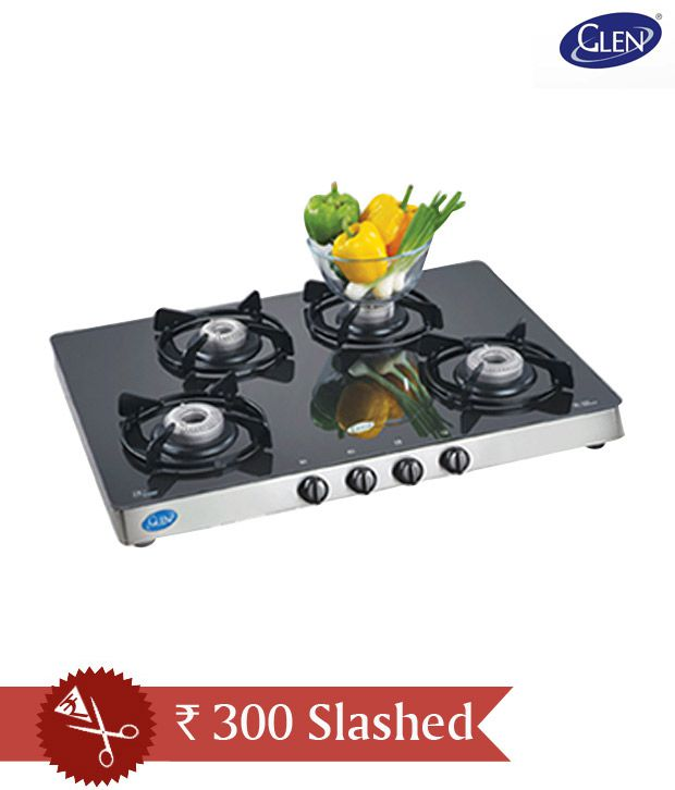 Glen Gl 1048 Gt Gas Cooktop 4 Burner Auto Stove Price In India Online On