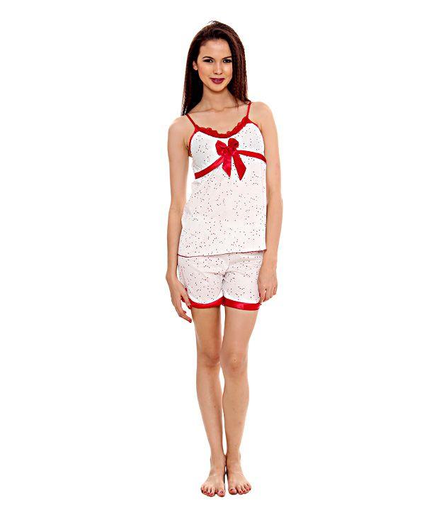 Kunchals Sensuous Red  Shorts & Top (N.W-2726REDFREE)
