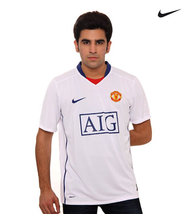 best sneakers c336d 59f4b Nike Manchester United AIG White T-Shirt (287611-105) - Buy ...