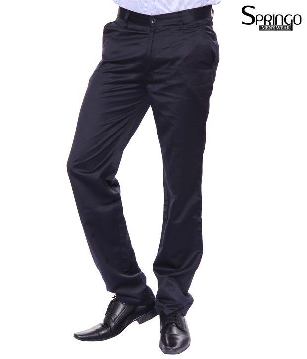 Springo Stylish Navy Trousers (Springo-Navy)