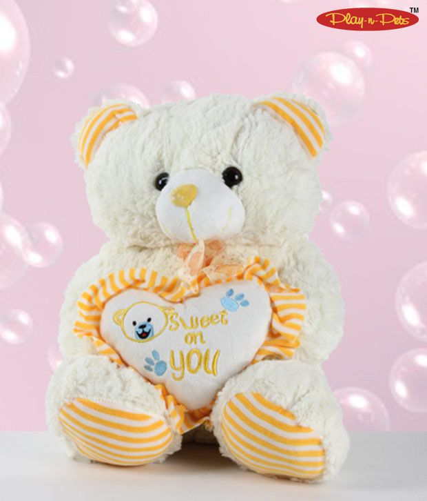 Play-n-Pets Sweet Heart Bear Soft Toy