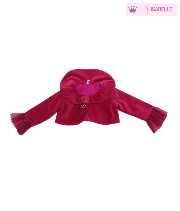 Isabelle Stylish Fuchsia Pink Designer Jacket For Kids
