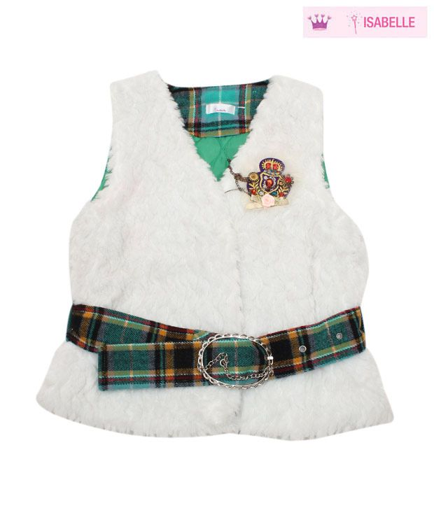 Isabelle Designer White Jacket For Kids