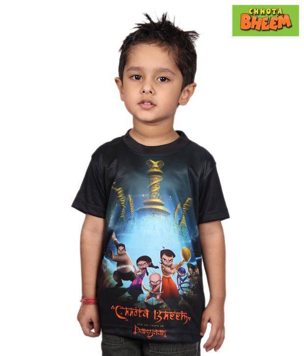 Chhota Bheem Black & Blue T-Shirt For Kids