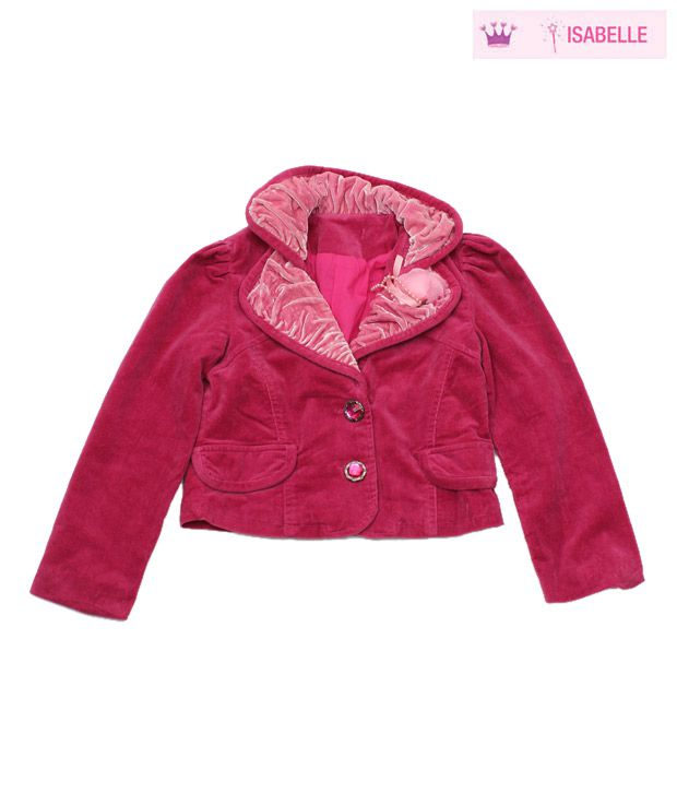 Isabelle Fuschia Pink Designer Short Jacket For Kids
