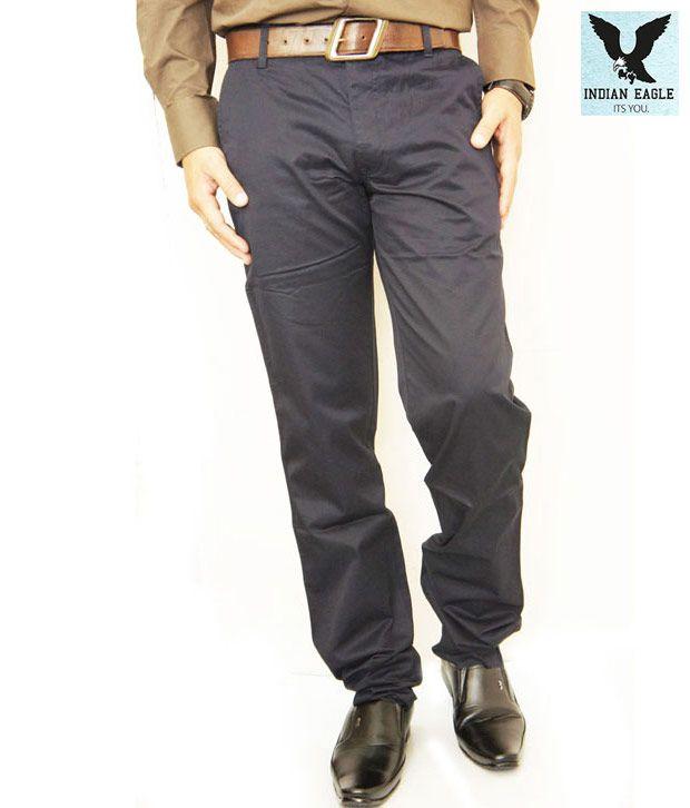 Indian Eagle Cool Navy Blue Men's Trouser