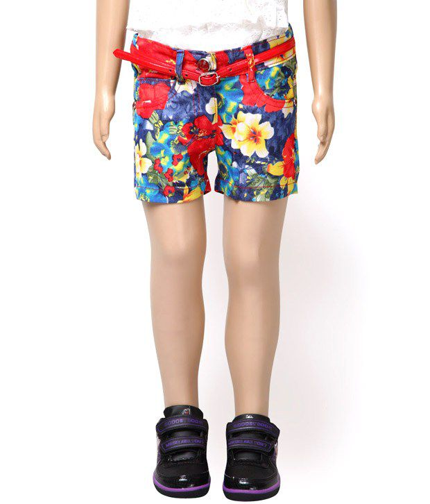 Glow & Glitters Multi Color Shorts For Kids