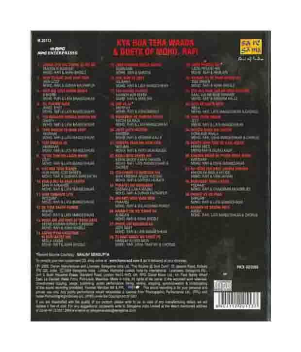 Kya Hua Tera Wada & Duets Of Mohd Rafi (Hindi) [MP3]: Buy