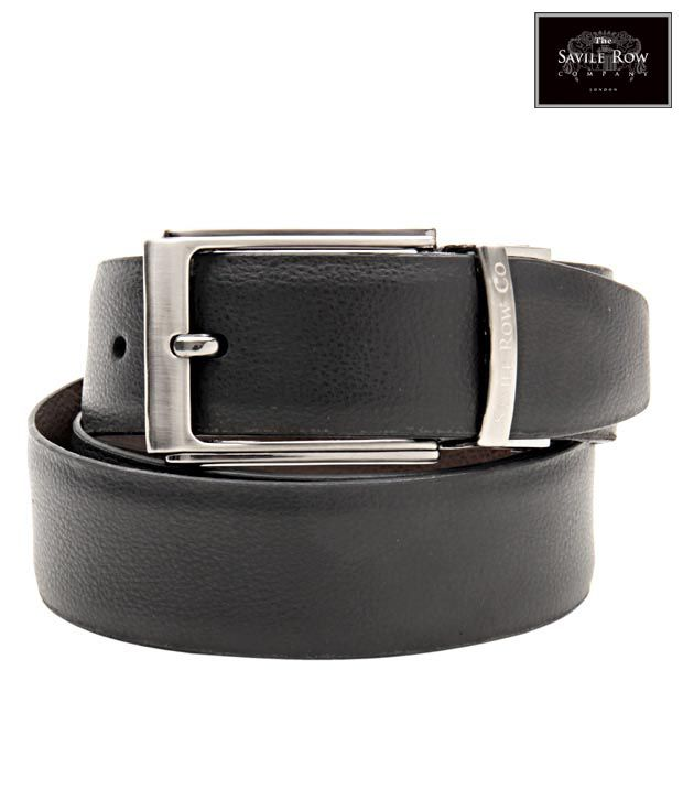 The Savile Row Radiant Black & Brown Reversible Belt