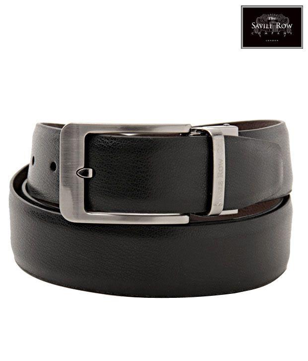 The Savile Row Graceful Black & Brown Reversible Belt