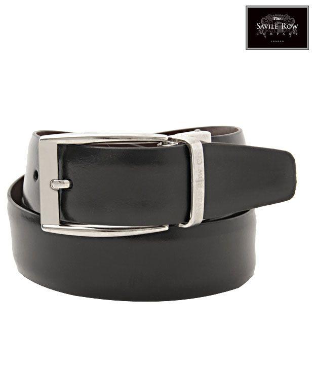 The Savile Row Alluring Black & Brown Reversible Belt