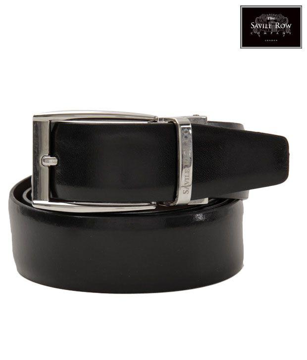 The Savile Row Dazzling Black & Brown Reversible Belt